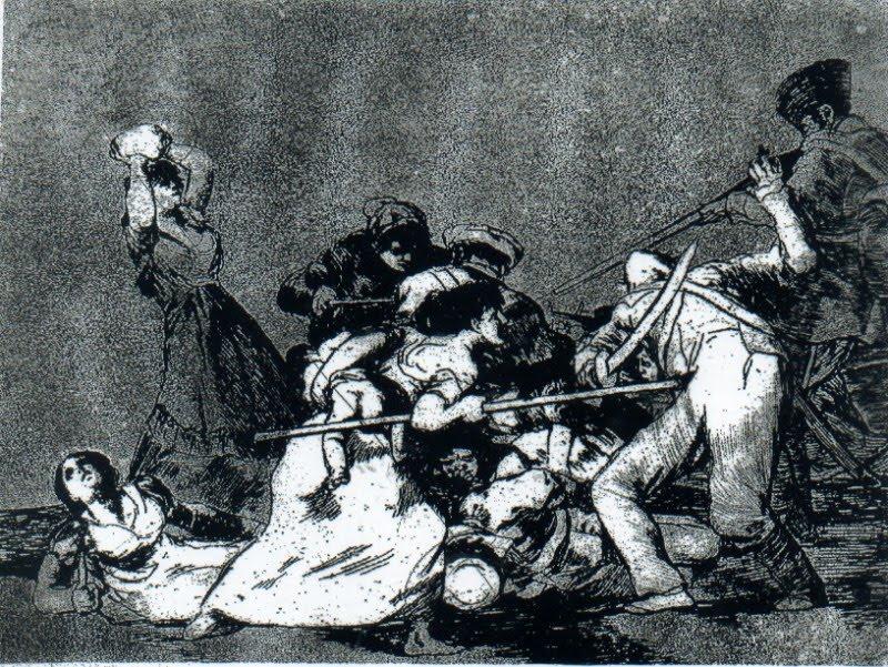 """Goya, gravura da série """"Os desastres da guerra"""""""