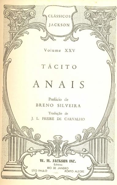 "Tácito, ""Anais"""