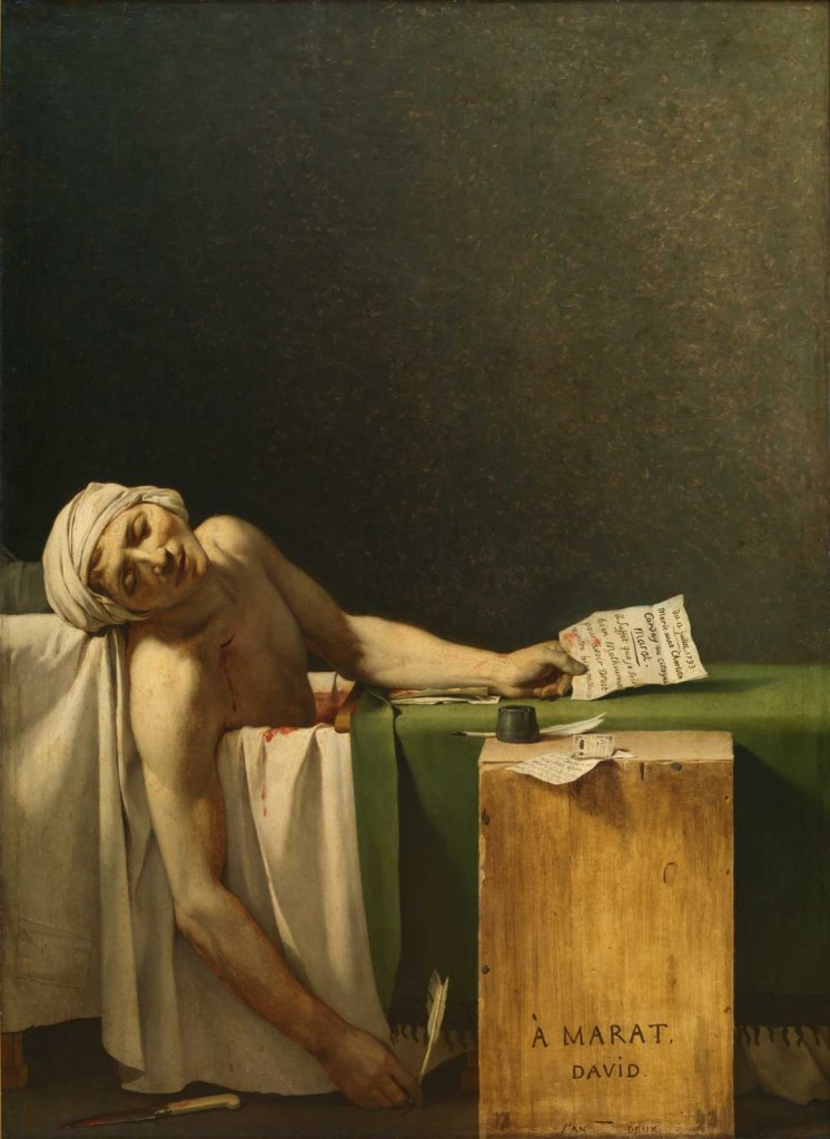 "'A morte de Marat"", pintura de Jacques-Louis David, 1793"