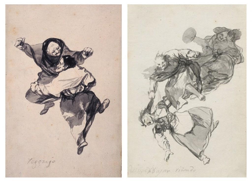 """Francisco de Goya, """"Regozijo"""" e """"Bajan riñendo"""""""