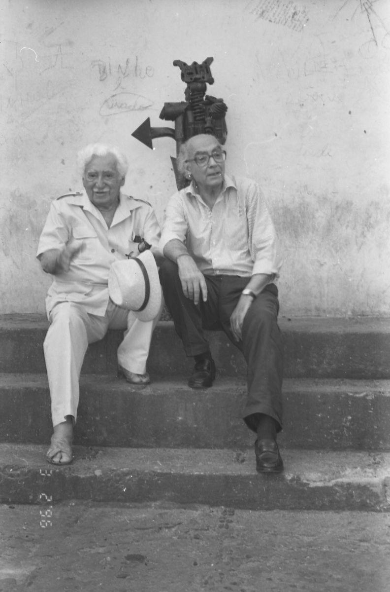 Jorge Amado e José Saramago, na Bahia