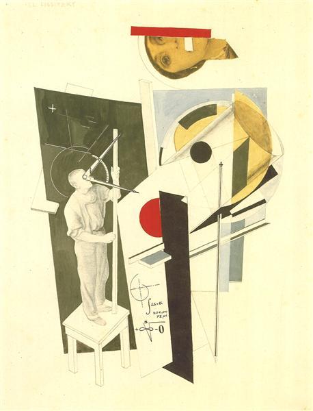 "El Lissitzky, ""Tatlin trabalhando"""