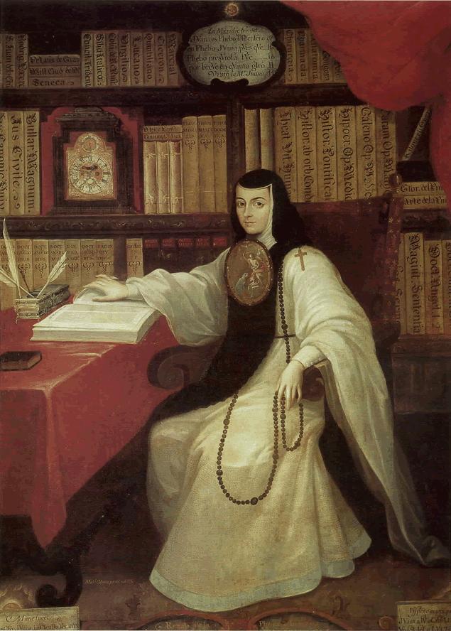 """Miguel Cabrera, """"Retrato de Sor Juana Inés de la Cruz"""""""
