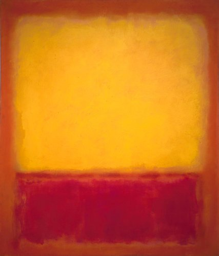 "Mark Rothko, ""Yellow Over Purple"", pintura de 1956"