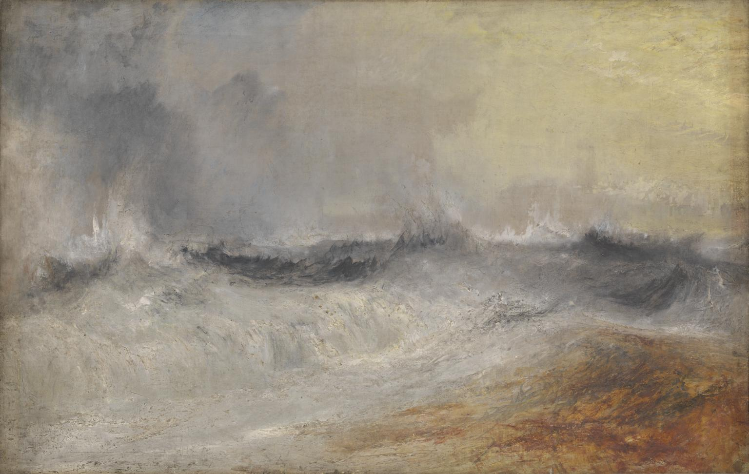 "Turner, ""Waves Breaking against the Wind"""