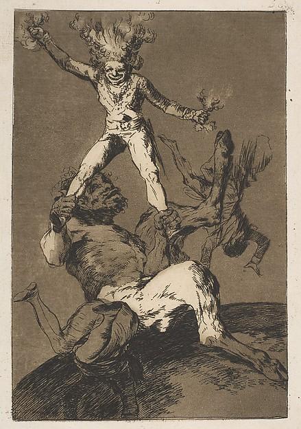 "Goya, gravura da série ""Caprichos y disparates"""